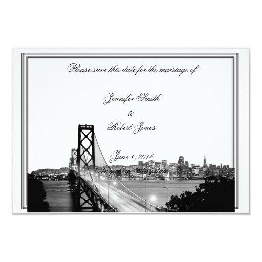 """Reserva del boda del destino de San Francisco la Invitación 3.5"""" X 5"""""""