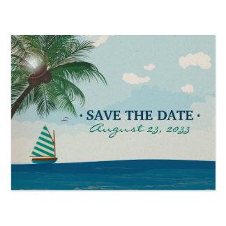 Reserva del boda del destino la fecha tarjetas postales