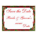 Reserva del boda del día de fiesta del navidad las tarjeta postal
