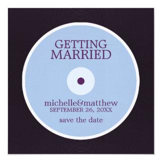 Reserva del boda del disco de vinilo la fecha anuncio