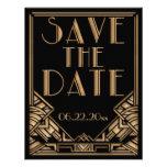 Reserva del boda del estilo de Gatsby del art déco Invitaciones Personalizada
