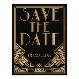"""Reserva del boda del estilo de Gatsby del art déco Invitación 4.25"""" X 5.5"""""""