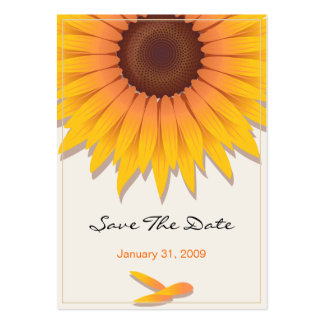 Reserva del boda del girasol la fecha MiniCard Tarjeta De Negocio