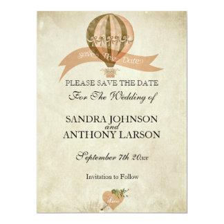 """Reserva del boda del globo del aire caliente del invitación 6.5"""" x 8.75"""""""