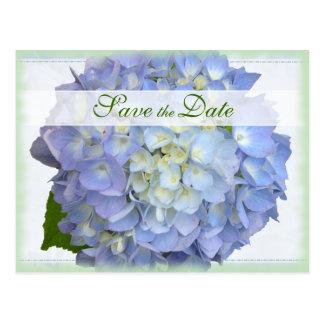 Reserva del boda del Hydrangea de la luna azul la Tarjeta Postal