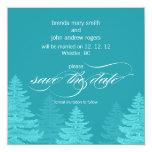 Reserva del boda del invierno de los árboles de la invitación 13,3 cm x 13,3cm