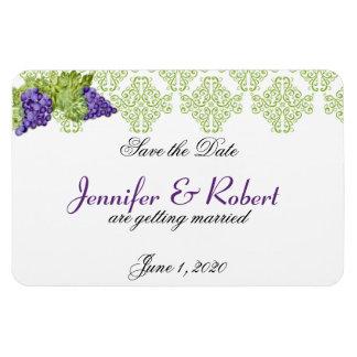 Reserva del boda del jardín de la vid la fecha imán flexible