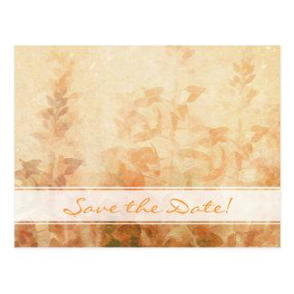 Reserva del boda del jardín del vintage la fecha postales