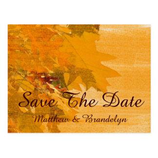 Reserva del boda del otoño de la caída la postal d