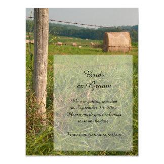 Reserva del boda del país de los pastos del verde invitaciones magnéticas