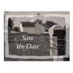 Reserva del boda del país la invitación de la postales
