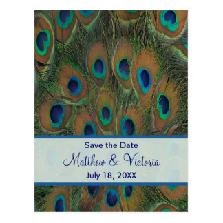 Reserva del boda del pavo real la fecha postales