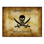 Reserva del boda del pirata la postal de la fecha