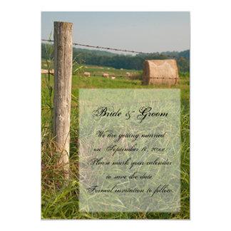 """Reserva del boda del rancho del país de los pastos invitación 5"""" x 7"""""""