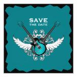 Reserva del boda del rock-and-roll la invitación