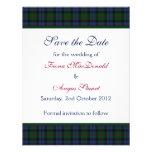 Reserva del boda del tartán de Baird la tarjeta de Anuncios Personalizados