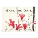 Reserva del boda del vintage la fecha, árbol de la anuncio personalizado