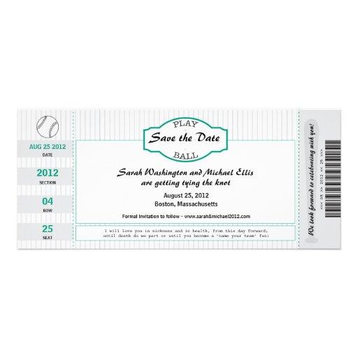 Reserva del boleto del béisbol la fecha comunicado personal