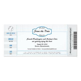 Reserva del boleto del béisbol la fecha anuncio