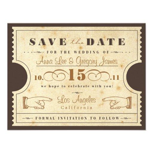 Reserva del boleto del vintage la fecha anuncio