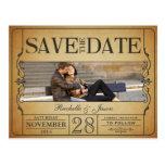 Reserva del boleto del vintage la fecha tarjeta postal