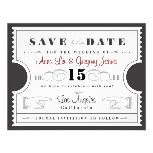 Reserva del boleto la fecha invitación