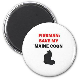 Reserva del bombero mi gato de Coon de Maine Iman