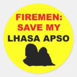 Reserva del bombero mi Lasa Apso Etiqueta