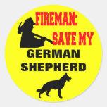 Reserva del bombero mi pastor alemán