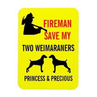 Reserva del bombero mi seguridad contra incendios  imán foto rectangular