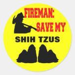 Reserva del bombero mi Shih Tzus