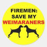 Reserva del bombero mi Weimaraners Etiqueta