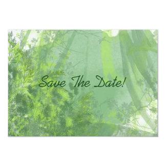 """Reserva del bosque de la acuarela la fecha invitación 5"""" x 7"""""""