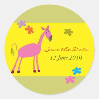 Reserva del caballo el pegatina de la fecha