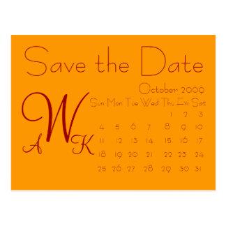 Reserva del calendario la fecha tarjetas postales