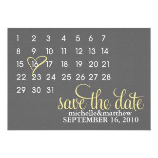 Reserva del calendario las invitaciones del boda d comunicados