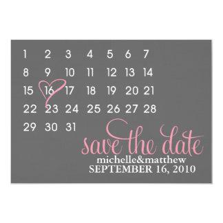 """Reserva del calendario las invitaciones del boda invitación 5"""" x 7"""""""