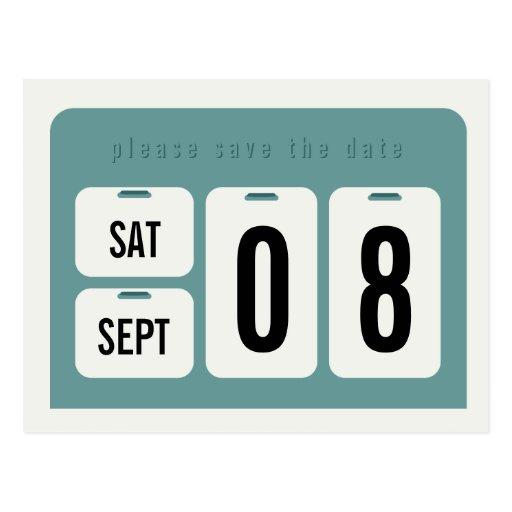 Reserva del calendario perpetuo la invitación de tarjetas postales