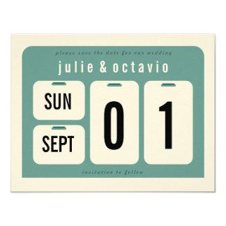 Reserva del calendario perpetuo la tarjeta de invitación 10,8 x 13,9 cm