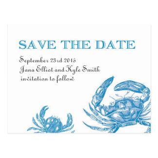 Reserva del cangrejo azul la fecha postales