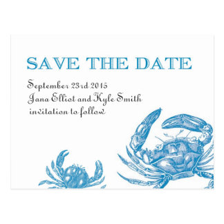 Reserva del cangrejo azul la fecha tarjeta postal