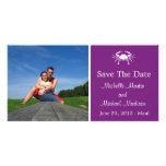 Reserva del cangrejo la fecha Photocard (púrpura d Tarjeta Fotografica