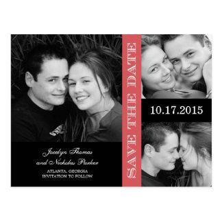 Reserva del collage del compromiso la invitación d tarjetas postales
