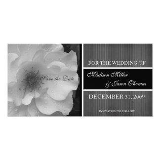 Reserva del contemporáneo la invitación de la fech tarjetas personales con fotos
