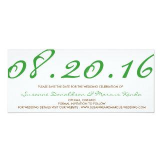 """Reserva del contemporáneo la tarjeta de fecha invitación 4"""" x 9.25"""""""
