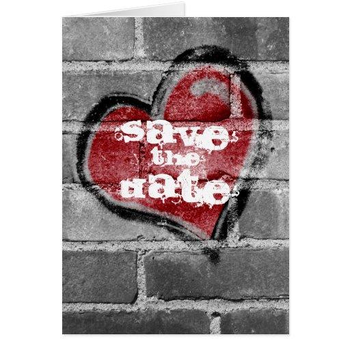 Reserva del corazón de la pintada la tarjeta de fe
