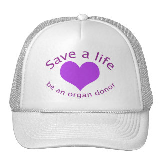 Reserva del corazón púrpura un gorra de la donació