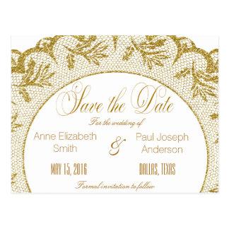 Reserva del cordón del oro la fecha tarjeta postal