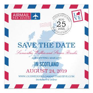 Reserva del correo aéreo de Escocia la fecha Invitaciones Magnéticas
