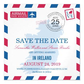 Reserva del correo aéreo de Irlanda la fecha Invitaciones Magnéticas